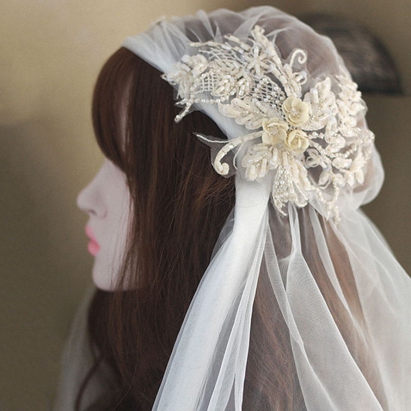 Best Short Wedding Veil With Beads List And Get Free Shipping A371
