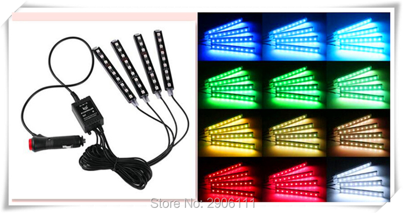 Color LED car interior decoration atmosphere lights for SsangYong korando kyron rexton 2 rodius actyon sport gjlth fyysq автомобиль kyron