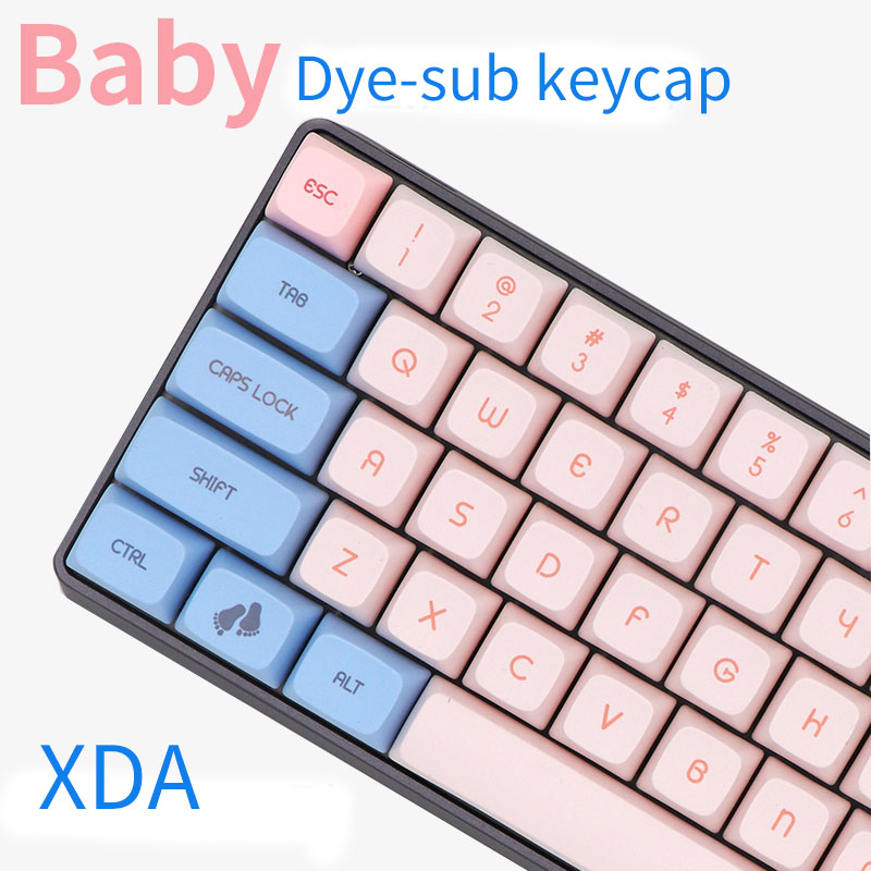 xda profile 165keys pbt material dye subbed keycap for mx