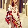 2016 New Brand Twill Silk Scarf Women 130-130cm Big Square Horse Head Pattern Handkerchief Female Summer Beach Pashmina Shawl