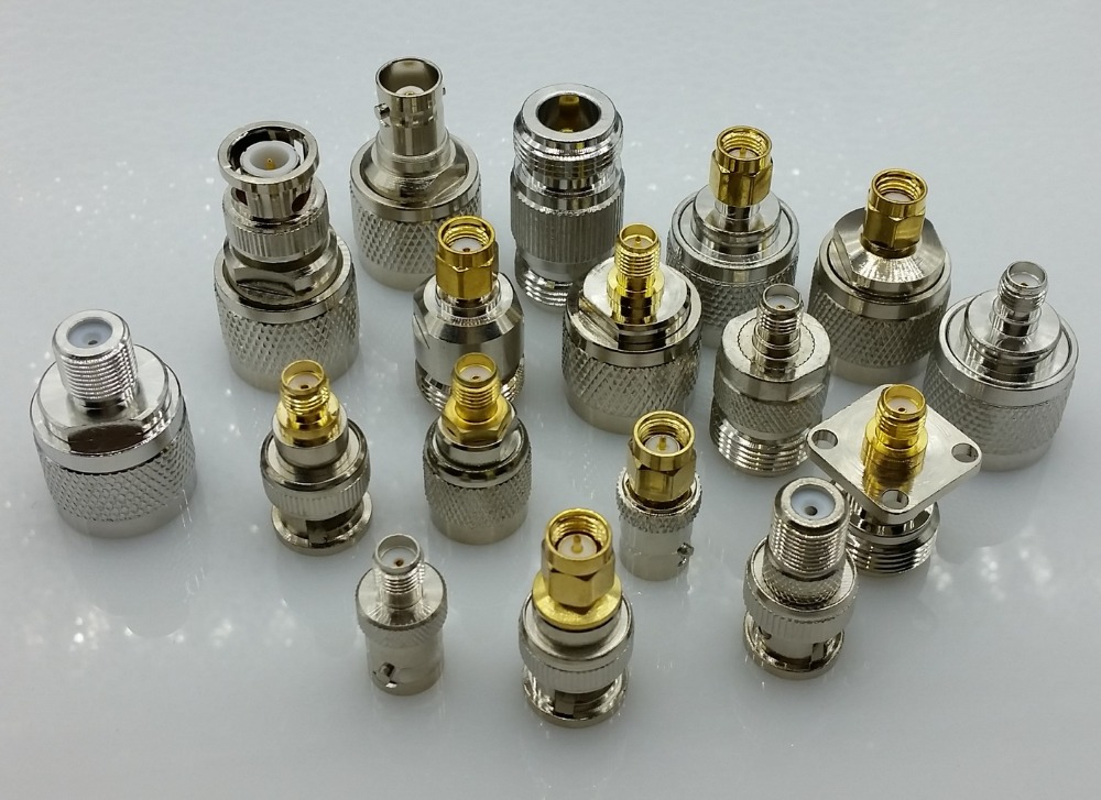 17 standard N type to sma BNC to sma TNC to sma RF connectors adapter 6002 7051 002 rf connectors coaxial connectors tnc f str b mr li