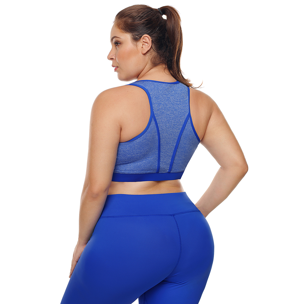 c6ef1e386a7 2019 Large Big Plus Size Fitness Top Female Sport Brassiere Push Up ...