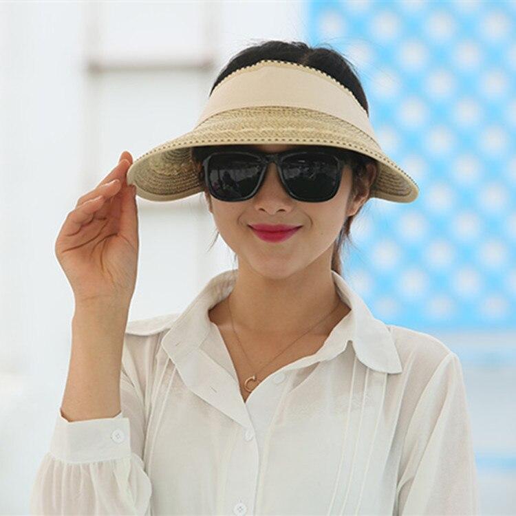 2018 Heiße Frau Sommer Sonnenhüte Leere Top Elastischen Kühle Strand Caps Eltern-kind Freien Schutzhülle Visier Hut Sonnenhüte