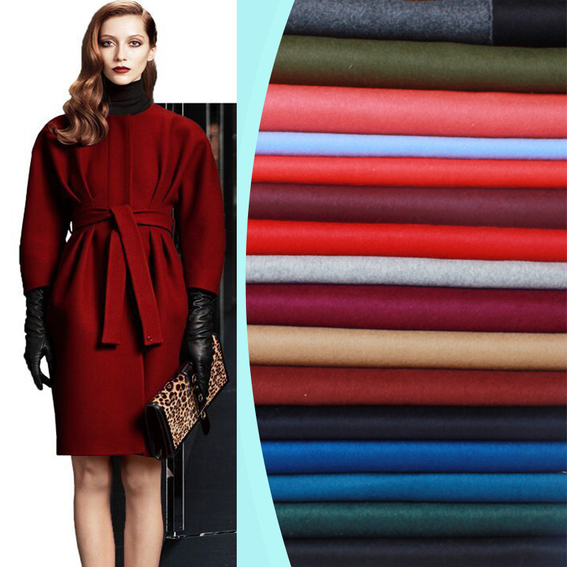 17 colors double sided cashmere fabric autumn and winter special thickening coat wool fabric export cashmere