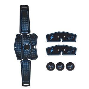 Image 5 - 6Pcsกล้ามเนื้อไร้สายStimulatorเทรนเนอร์สมาร์ทฟิตเนสท้องการฝึกอบรมไฟฟ้าลดน้ำหนักสติกเกอร์Body Slimmingเข็มขัดUnisex