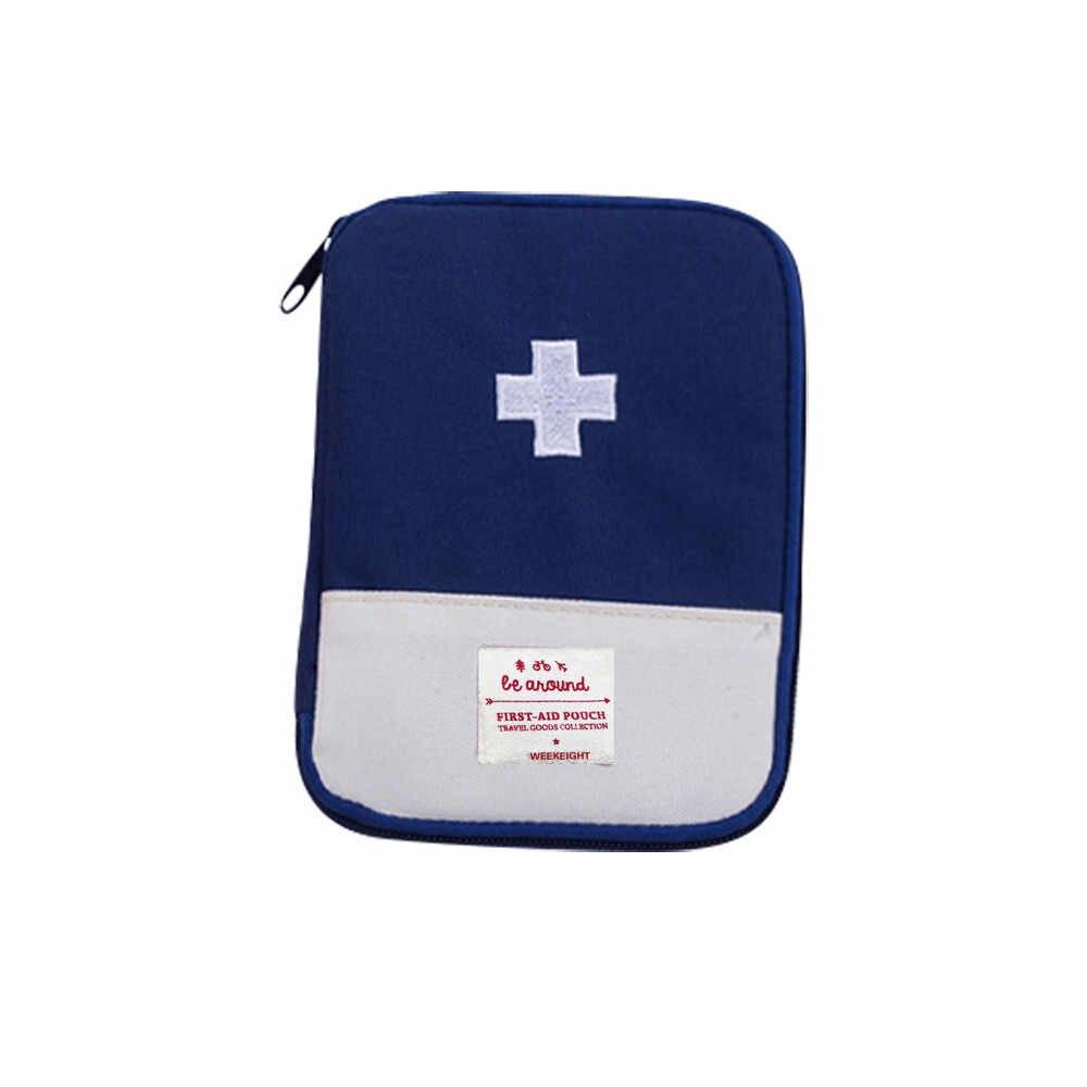 1PC 휴대용 야외 여행 응급 처치 키트 의학 가방 홈 작은 의료 상자 응급 생존 알 약 케이스 S/L