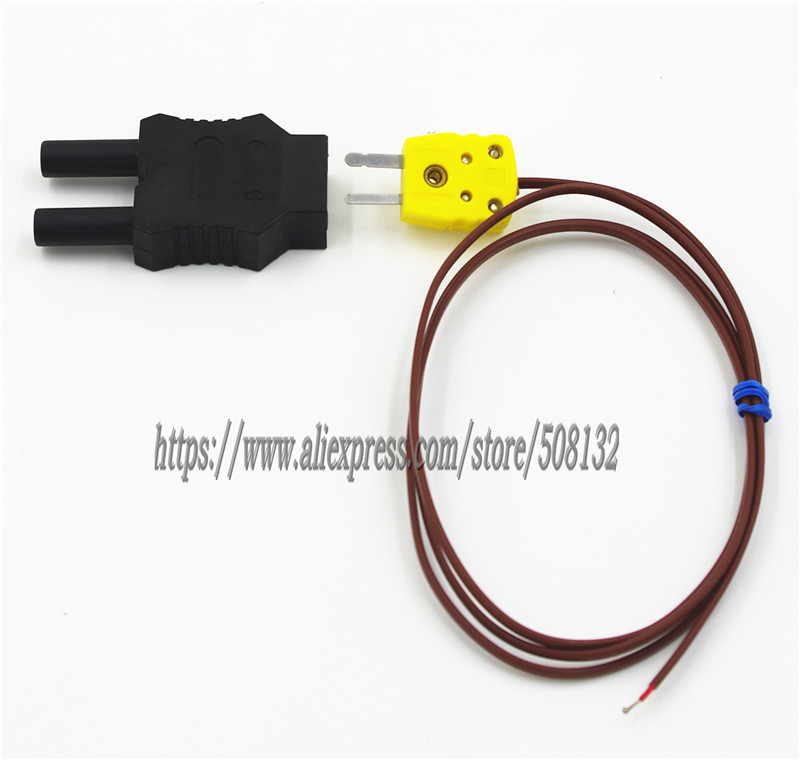 Type K Thermocouple replace Fluke 80PK 1 For Thermometer 51 2 51  II 53 II 54 2B and Dual plugs 4mm Banana adapterthermocouple  flukethermocouple typethermocouple k