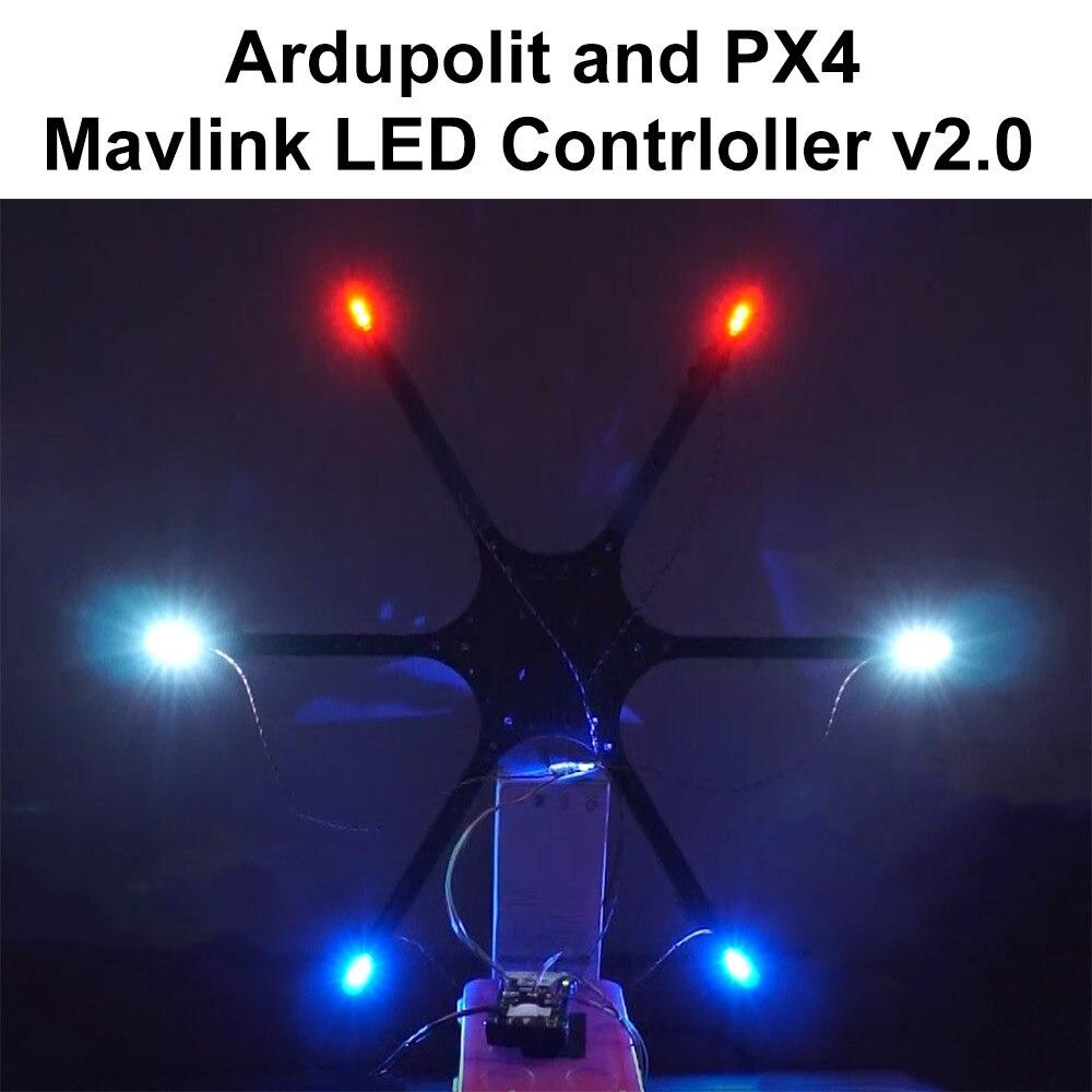 Pixhawk Controlador de LED Externo para APM Mavlink Pixhawk2 Ardupilot PX4 RGB Luz de Navegação Quadcopter Hexacopter Zangão Avião