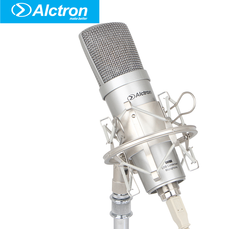 Alctron um100 Professional recording microphone Pro USB Condenser Microphone Studio computer microphone best quality yarmee multi functional condenser studio recording microphone xlr mic yr01