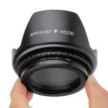 4IN1 Adapter do obiektywu pierścień do canona PowerShot SX40 SX50 SX60 SX70 SX520 SX530 SX540 HS do 67mm filtr UV na obiektyw kaptur osłona obiektywu