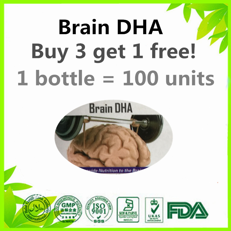 100 units Deep Sea Fish Oil Omega 3 DHA EPA Supplement Sports Nutrition Product (Buy 3 get 1 free)