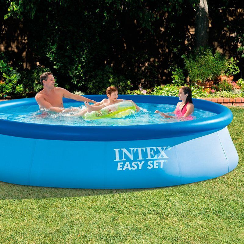 Intex 12ft X30in Inflatable Family Pool Adult Swimming Pool Kids Paddling Wading Pools Backyard Summer Fun Pool Accessories Aliexpress