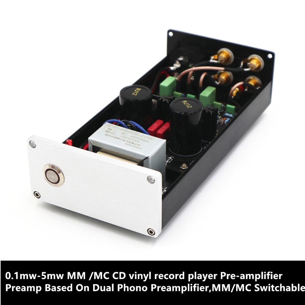 0.1mw-5mw MM /MC CD Vinyl Record Player Pre-amplifier Preamp Based On Dual Phono Preamplifier,MM/MC Switchable