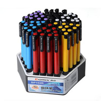 Free Shipping 60 Pcs Blue Ballpoint Pen Or Clicked Cartridge School Students Stationery Office Supplies Boligrafos