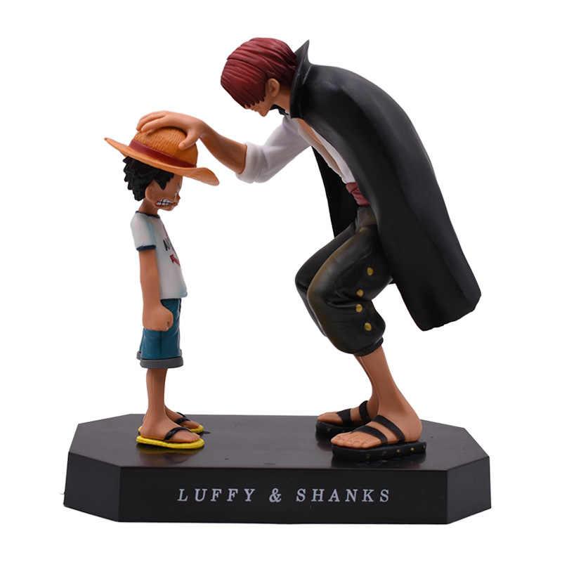 Anime Um Pedaço Quatro Imperadores Shanks Luffy Chapéu de Palha Luffy PVC Action Figure Boneca Criança Collectible Modelo Toy Presente de Natal