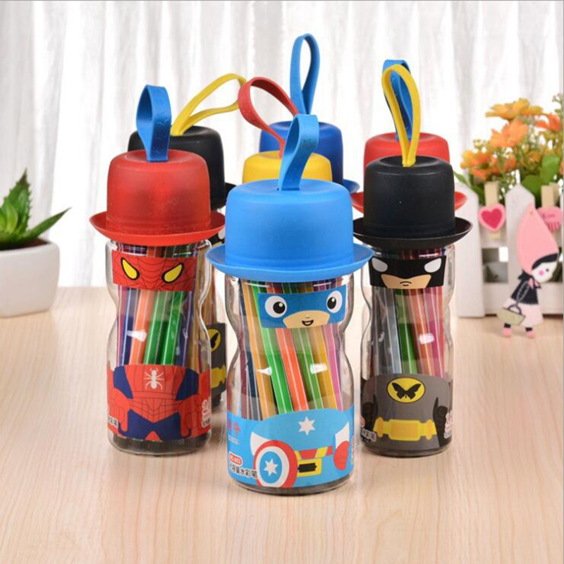 Anime Cartoon Children's Stationery Watercolor Pen Can Be Washable Graffiti Pen Drawing Set For Kid Gifts Graffiti Painting Toy