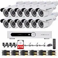 Eyedea 16 CH Motion Detect DVR AHD Recorder 1080P Bullet Outdoor Night Vision CCTV Security Camera Video Surveillance System 3TB