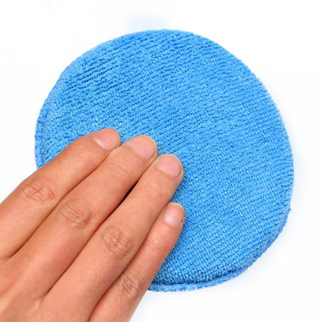 Soft Microfiber Car Wax Applicator Pad Polishing Sponge for apply and remove wax Auto Care 5pcs or 10pcs for choice