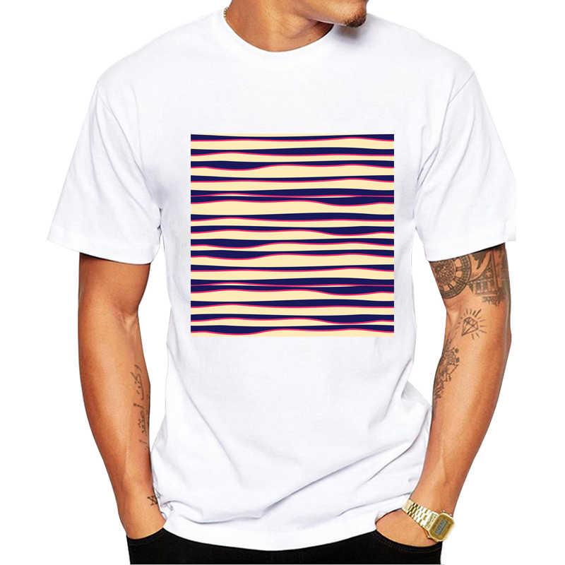 Funky Zebra печатных Мужская футболка модная крутая футболка для мужчин Одежда высшего качества белый забавная мужская футболка Повседневная одежда с коротким рукавом