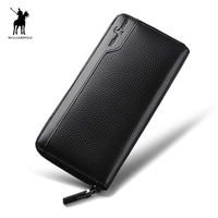 Luxury Brand WillimPOLO Mens Wallet Leather Genuine Dollar Price Luxury Man Wallet Branded Wallets Famous Brand PL142