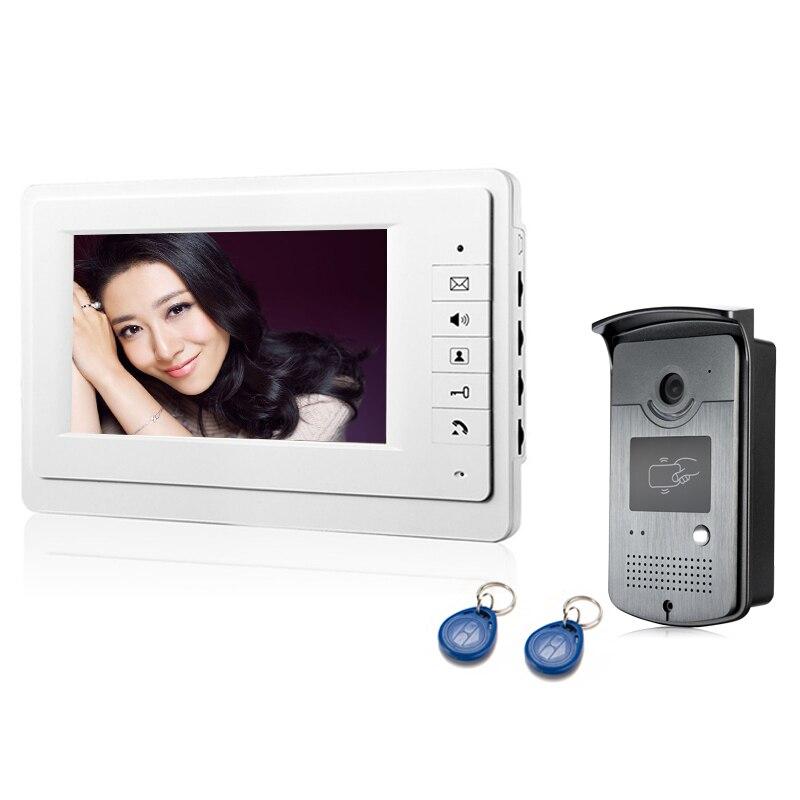 7inch video intercom Door phone system + 1 RFID Access HD Outdoor Unit Camera7inch video intercom Door phone system + 1 RFID Access HD Outdoor Unit Camera