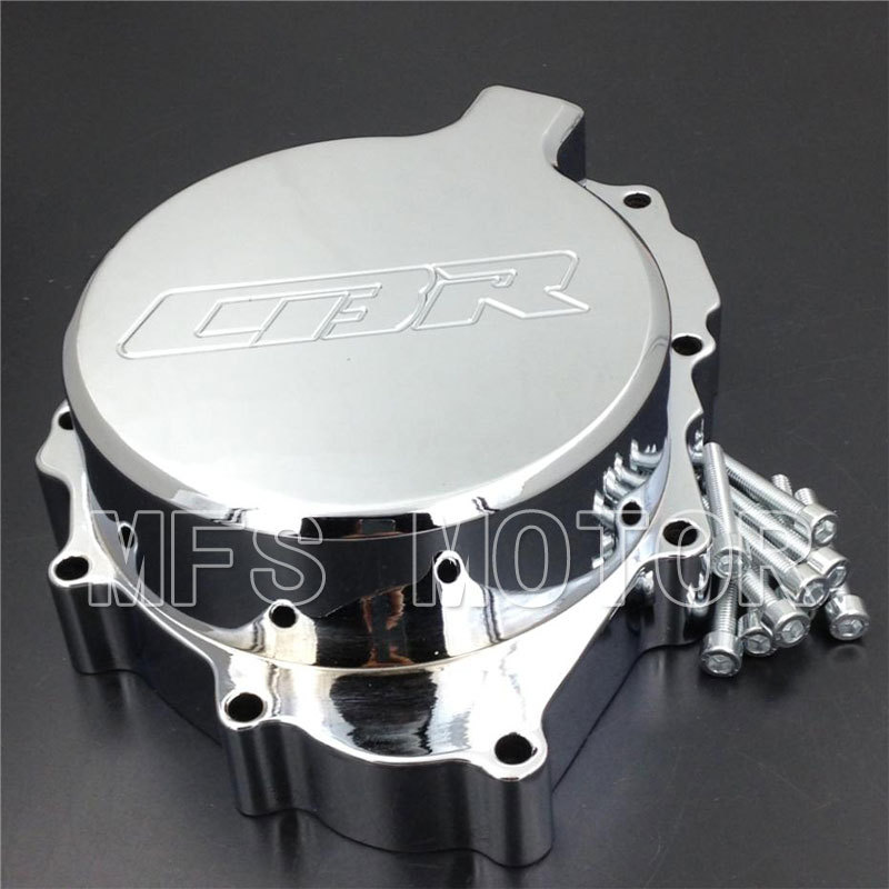 Motorcycle Part Left Engine Stator cover For Honda CBR600RR F4/F4i All Year 1999 2000 2001 2002 2003 2004 2005 2006 CHROME aftermarket free shipping motorcycle parts motor engine stator cover honda cbr600rr f4 f4i 1999 2006 left black