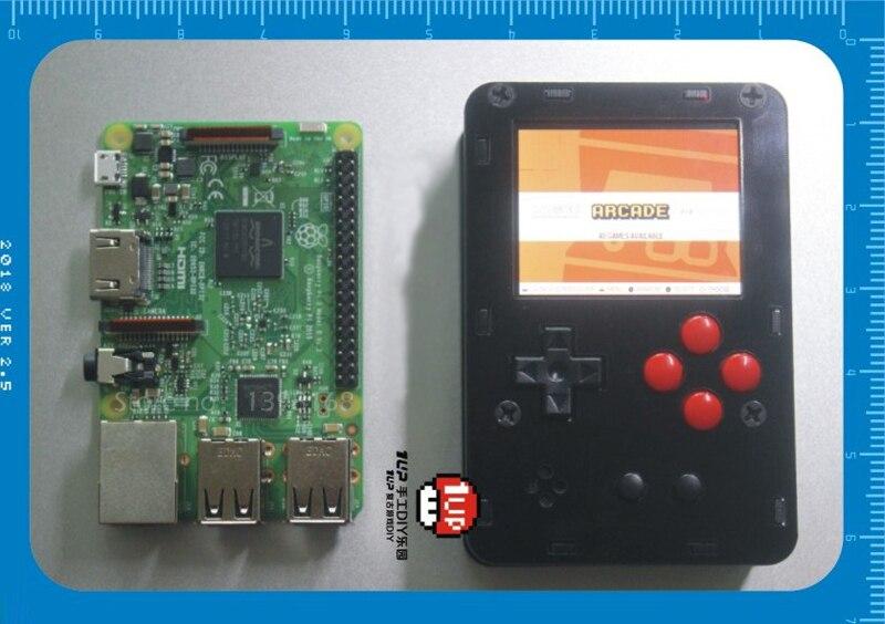 Pocket mini arcade game 2 inch HD IPS LCD Raspberry Pi 3