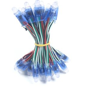 Image 1 - 1000pcs 12mm WS2811 2811 IC Full Color Pixel LED Module Light DC 5V Waterproof IP68 RGB color Digital LED Pixel Light Wholesale