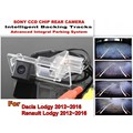 For Dacia Lodgy / For Renault Lodgy 2012~2016 Intelligent Car Parking Camera / with Tracks Module Rear Camera CCD Night Vision