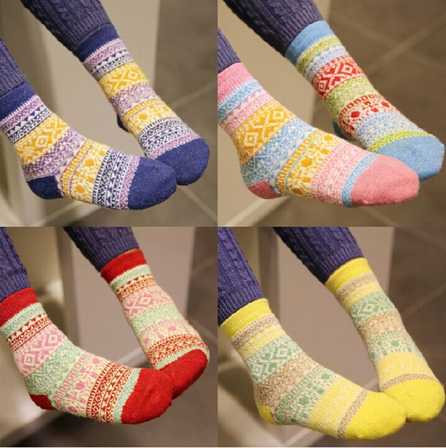 2017 Winter Kids Socks Cotton Children Thick Wool Socks Cute Creative Short  Harajuku Socks Baby Boys Girls Warm Soft Color 1-7Y c8708cd0ed11