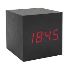 USB/AAA Powered Cube LED Digital Alarm Clock S