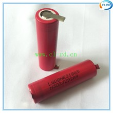 Bateria de Lítio 6 Pçs e lote Pré-soldada Coréia Importados Lghe2 Ferramenta de Poder Recarregável 2500 Mah 18650 Células Bateria