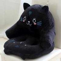Animal Style Fashion Lumbar Waist Seat Cushion Black Cat Print Pillow Bed Sofa Decorative Pillow Fundas
