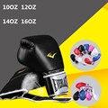 Luvas de boxe 10 oz 12 oz 14 oz 16 oz onça Mulheres e homens luvas de boxe luta luvas adulto respirável