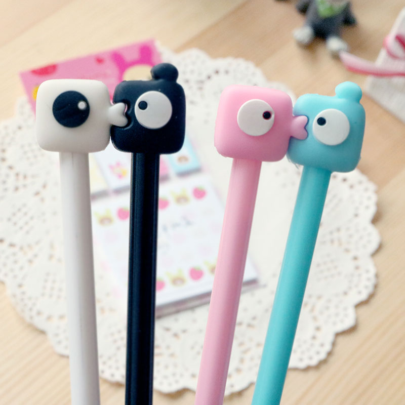 Cute Lovers kiss gel pen writing pens stationery caneta material escolar office school supplies papelaria kids gifts