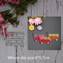 trolley decoration Metal steel frames Cutting Dies DIY Scrap booking Photo Album Embossing paper Cards6*5.7cm