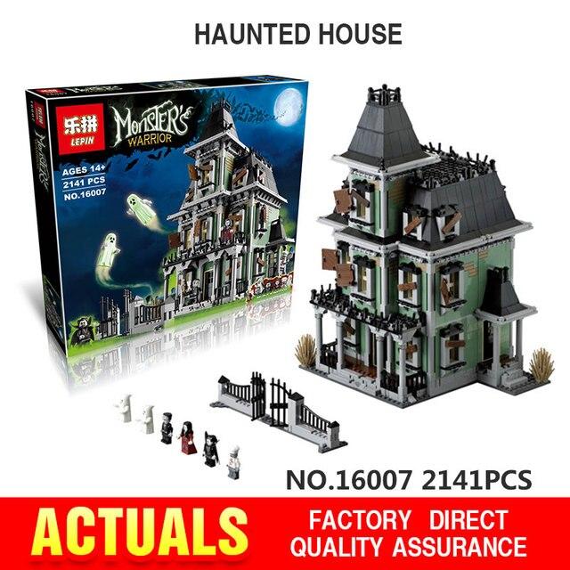 EN STOCK Nuevo LEPIN 16007 2141 Unids Monster fighter Modelo set Kits de Edificio Modelo de La casa embrujada Compatible With10228
