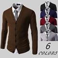 2017 homens Novos do Outono Blusas Com Decote Em V Homens Cardigan Malhas Camisola Fina Camisola Ocasional Cardigan Negócio Masculino Hot Sale