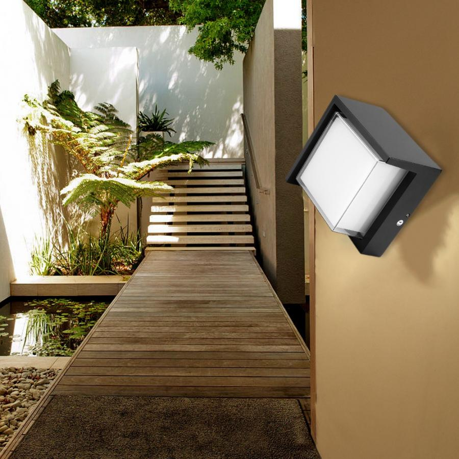 AC 85-265V 12W LED Wall Light Round Shape With IP65 Waterproof Sconce Lamp For Hotel Bar Corridor