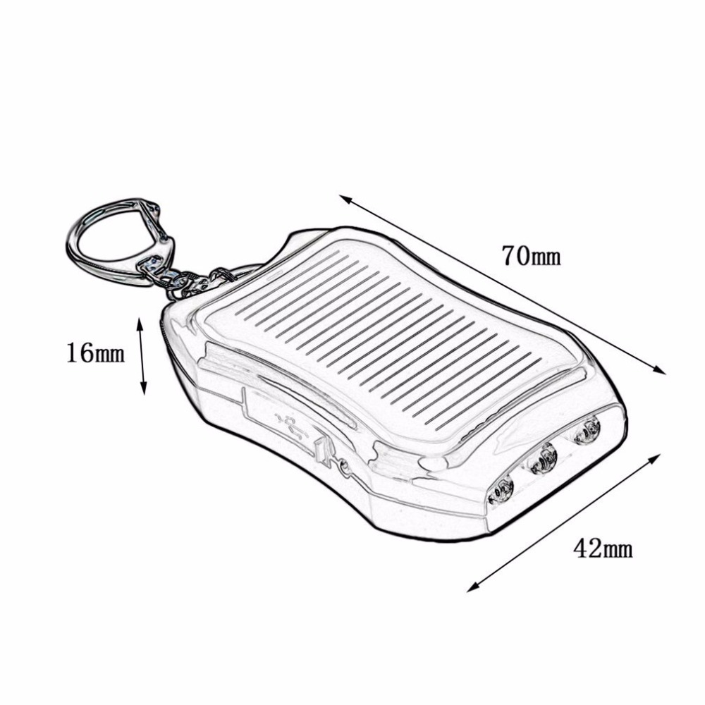 Consumer Electronics Keychain Kebidu Mini 5v Solar Power Bank Usb Charger Battery Mobile Power Supply Energy With High Power 800ma For Emergency
