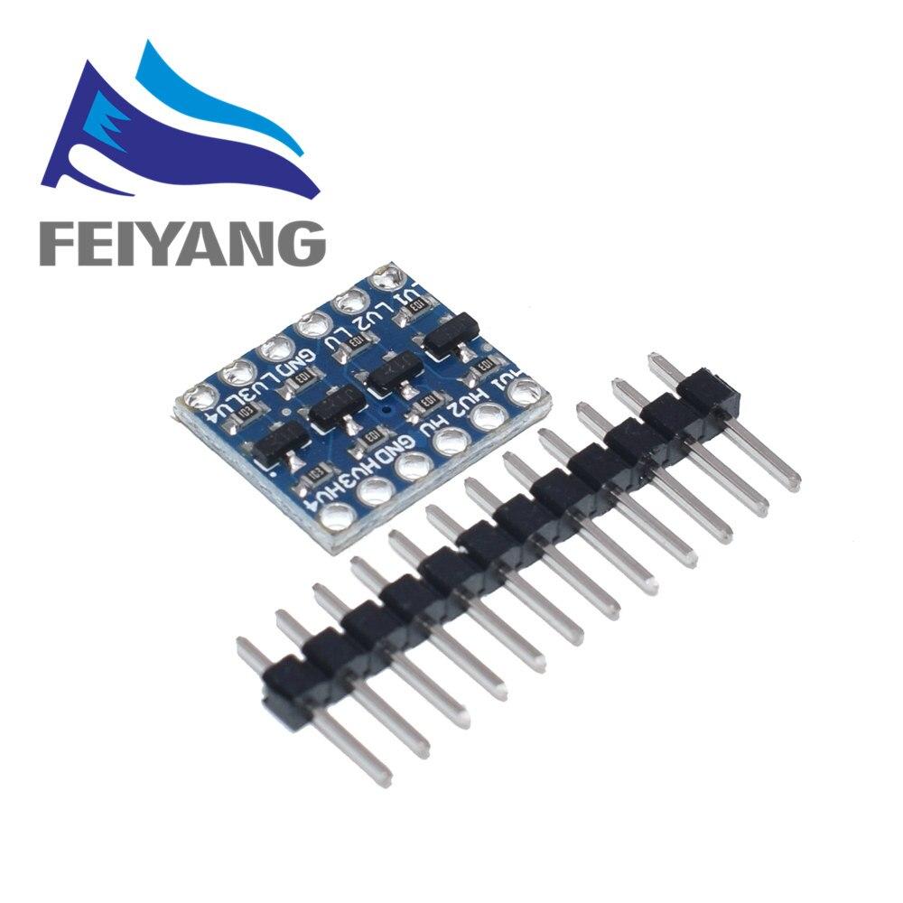 10PCS 4 Channel IIC I2C Logic Level Converter Bi-Directional Module 5V To 3.3V For Arduino