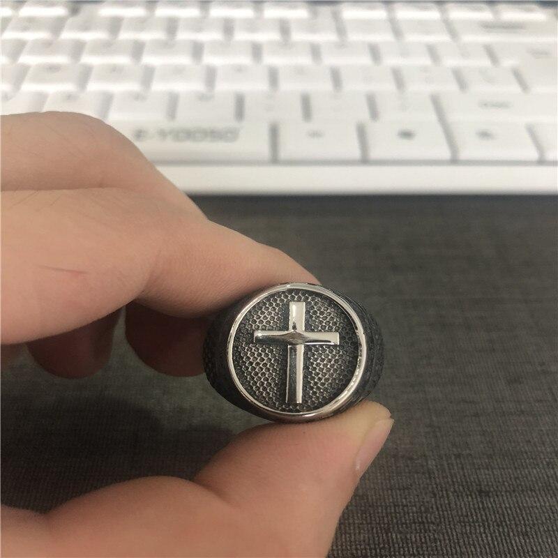 Поддержка Прямая поставка новейший Размер 7-14 крест крутое кольцо 316L ювелирные изделия из нержавеющей стали модные мужские Мальчики крест кольцо