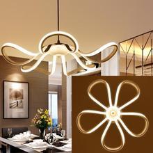 Minimalism Modern Led Pendant Lights For Dining Room Bar Kitchen Aluminum Acrylic Hanging Led Pendant Lamp Fixture 55cm 65W