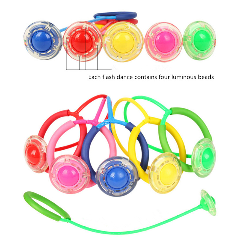 Flashing Jumping ball Outdoor Fun Toy Balls for Kids Sport Movement Ankle Skip Color Rotating Ball 5 colour
