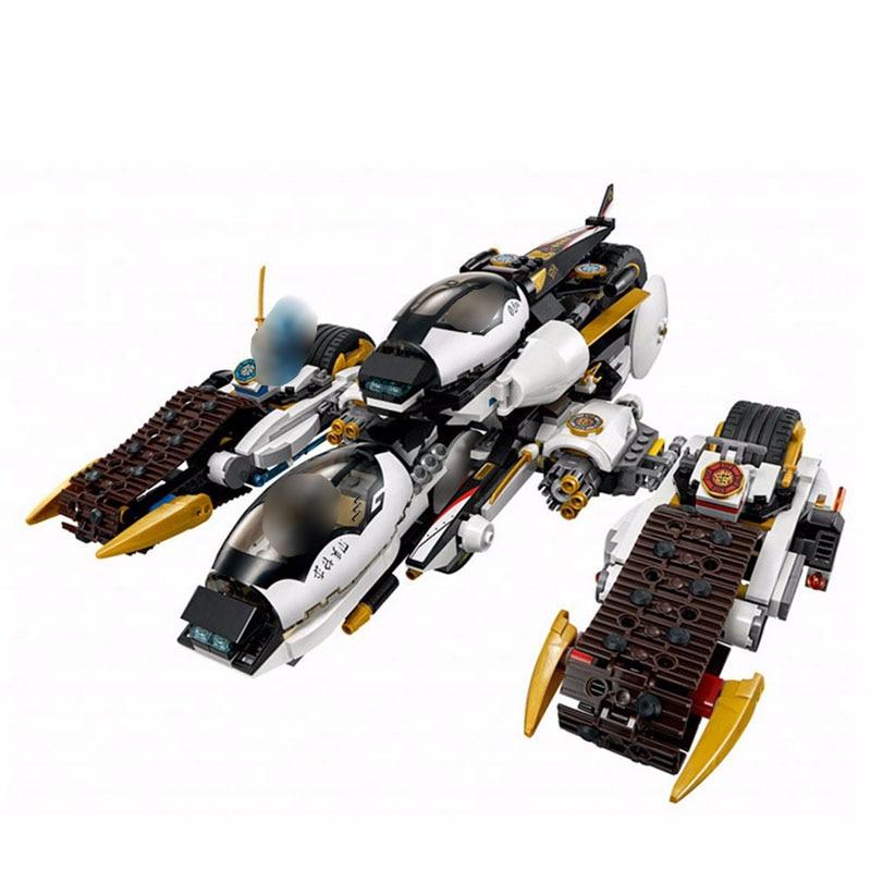 In Stock Ninja Series Ultra Stealth Raider Ninja Building Blocks Toys for Children Compatible 1167pcs