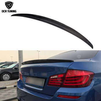 For BMW F10 Spoiler Performance 2010 - 2016 5 Series Sedan F10 Carbon Spoiler Lips F10 M5 Rear Trunk Wings car styling - DISCOUNT ITEM  25% OFF All Category