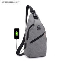 лучшая цена 2019 New Male Shoulder Bags USB Charging Crossbody Bags Men Anti Theft Chest Bag School Summer Short Trip Messengers Bag