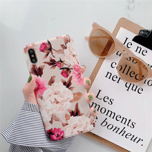 цена на Pohiks Coque For iPhone XS Max XR 8 7 6s Plus Rose Flower Peony Soft TPU Phone Case Cover For iphone 6 6s plus 7 8 plus Fundas