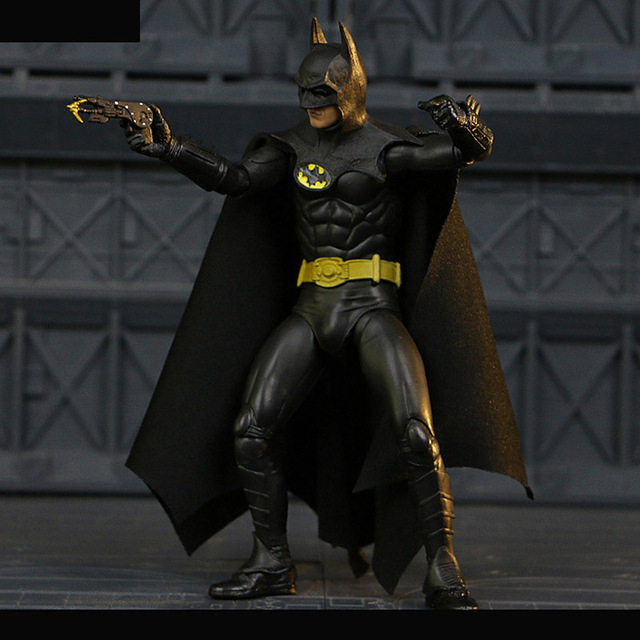 """6 """"neca Filme TV 1989 máscara de Super-heróis Batman Michael Keaton 25th estrangeiro PVC Action Figure Toy model Collection"""
