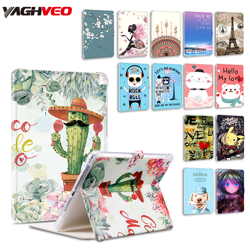 Universal Case For Ipad 2018 2017 Air 1/2 Pro 9.7 Case Cartoon Pu Leather Shockproof Kids Cover Magnet Auto Sleep Wake